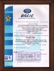 Certificate - BSCIC