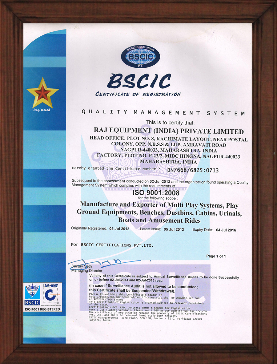 Bscic certificate of registration