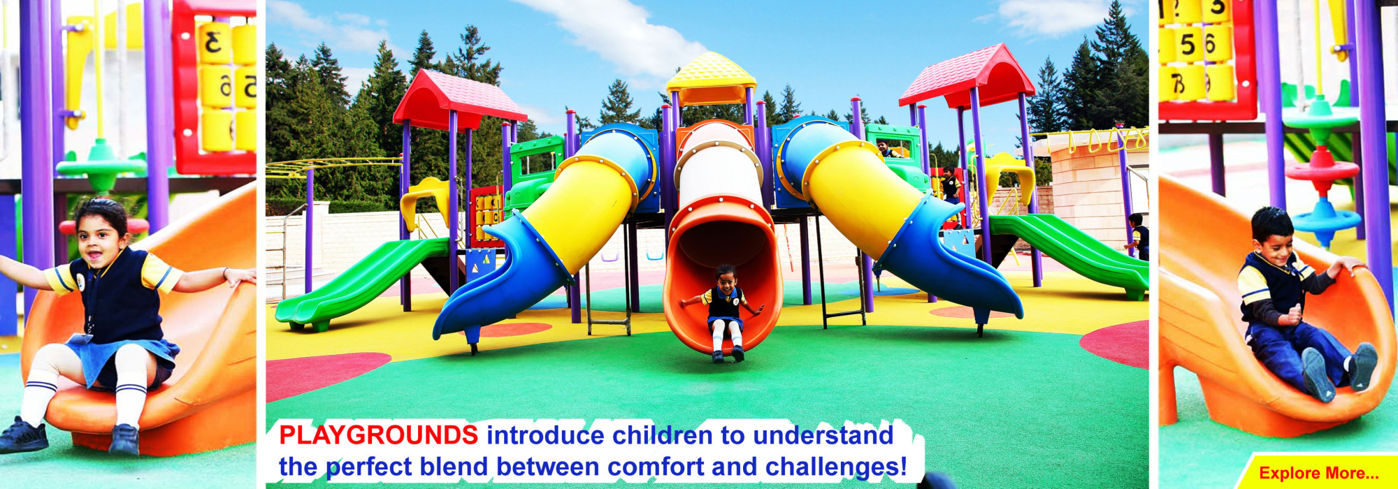 Playgrounds equipments for school, parks, daycare, and garden