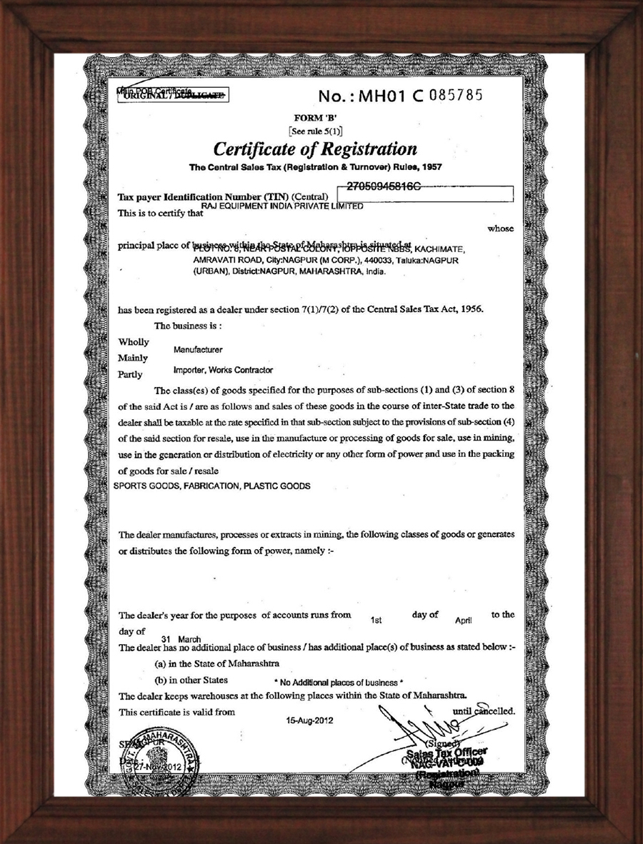 Certification of Registration 2