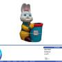 Fancy Mini Rabbit Dustbin