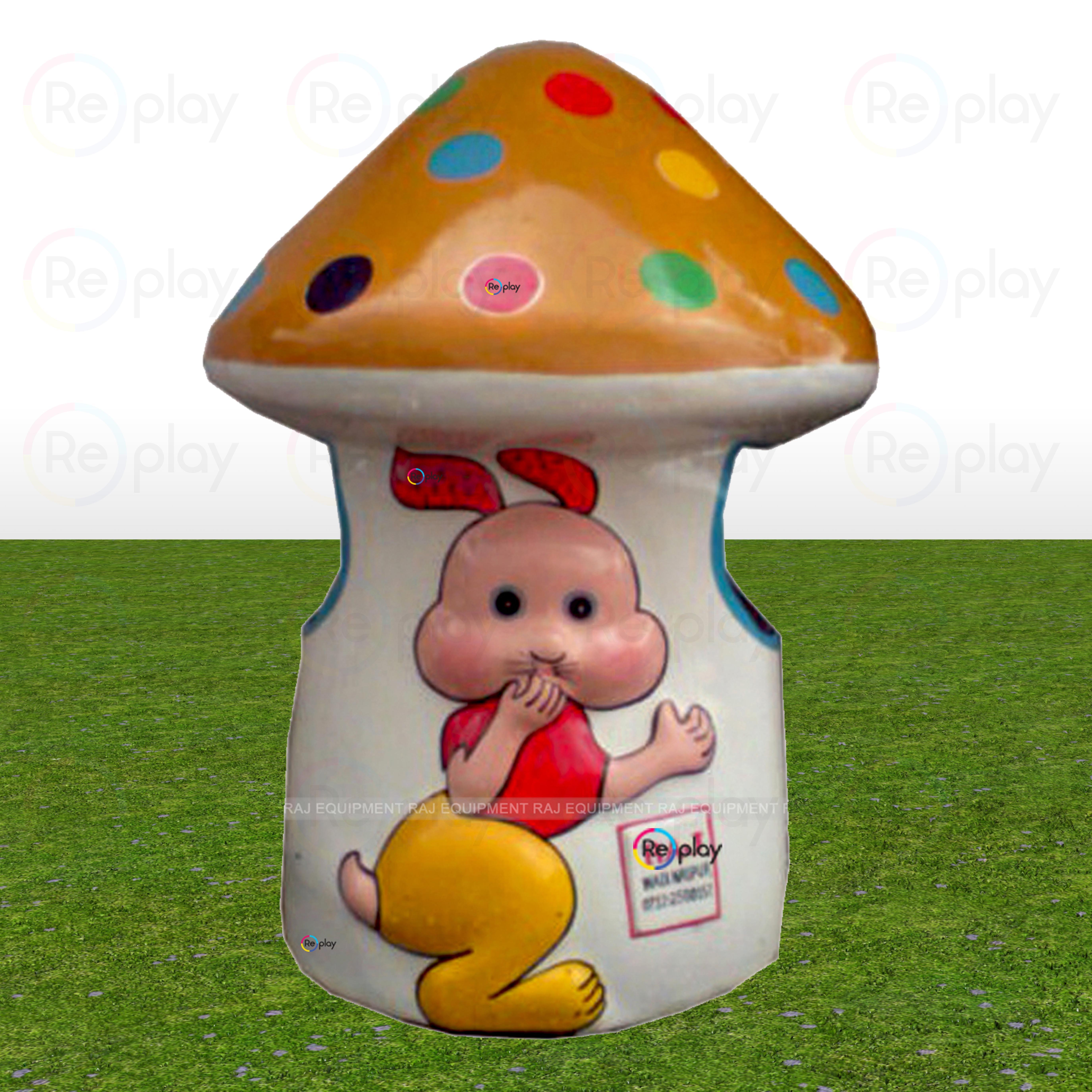 Fancy Mushroom Dustbin