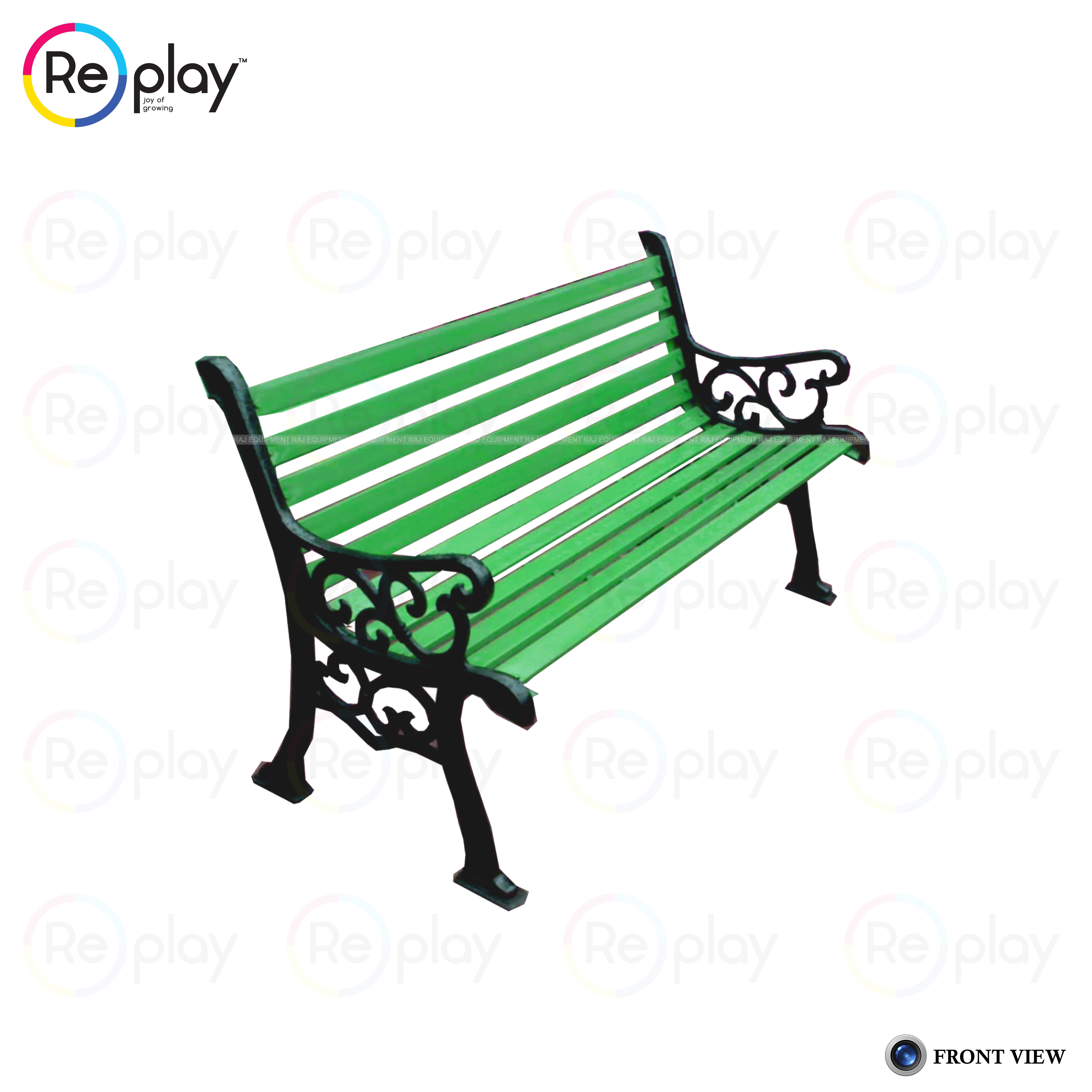 MS STRIP CAST IRON BENCH