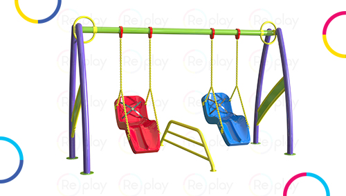 Inclusive playground equipments for disabled children, specially-abled kids.